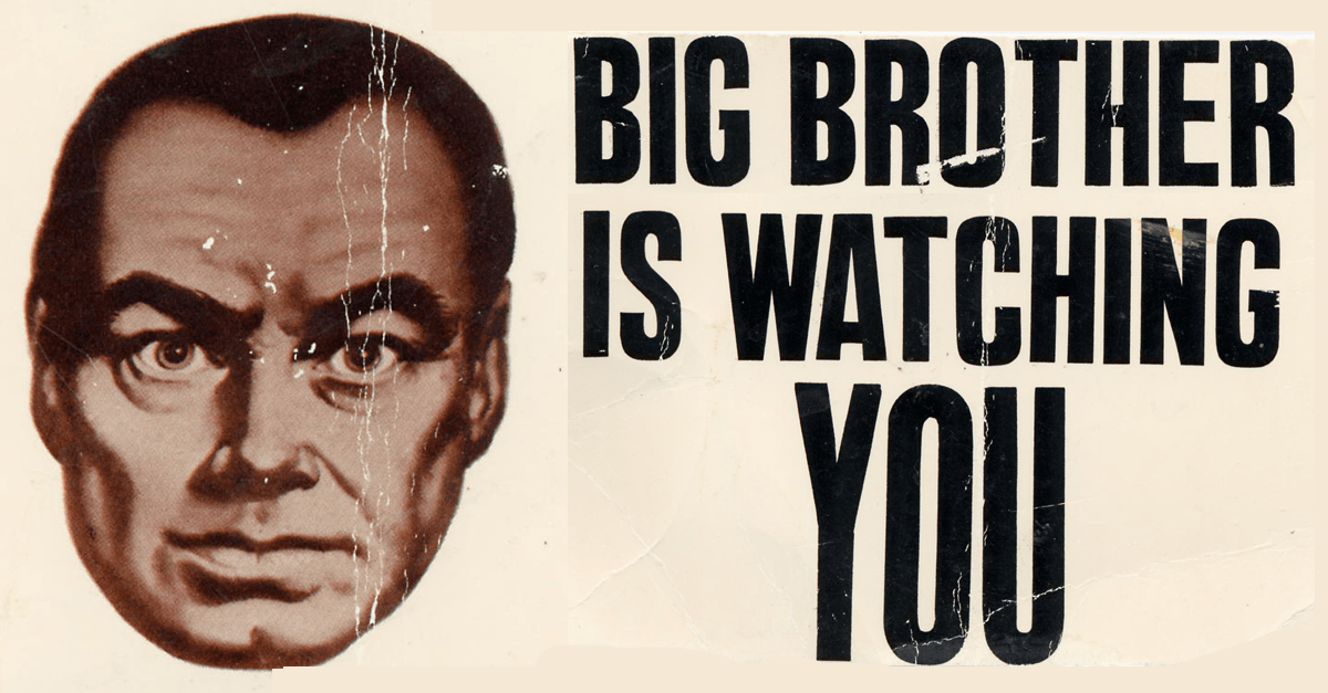 Big brother is watching you con una cara